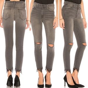 NWT Mother 2018 high waist skinny distressed 25